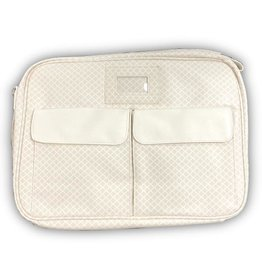 Classic Diamond Temple Bag - Cream