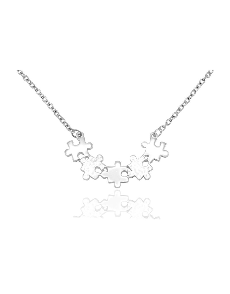 Faire: Quan Jewlery Charlotte Puzzle Piece Necklace, Autism Awareness Necklace, Mothers Day Gifts