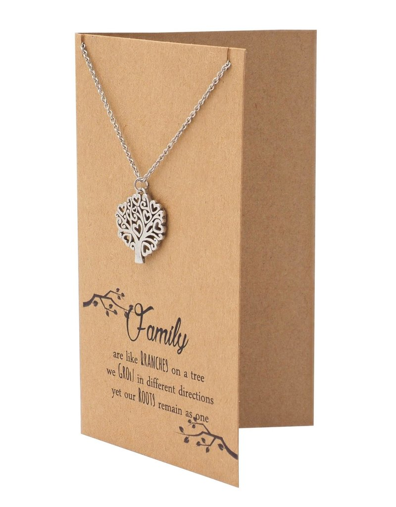 Faire: Quan Jewlery Zena Mothers Day Gifts Family Tree Necklace and Quotes Greeting Card