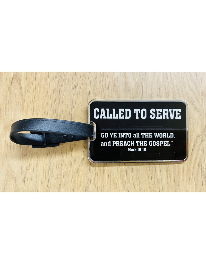 Called to Serve Metal Luggage Tag Large