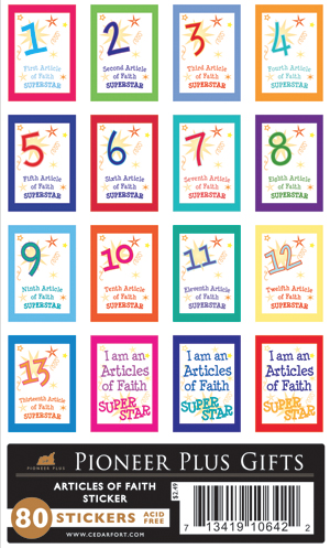 Articles of Faith stickers