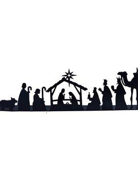 """Faire: Mira Fair Trade Metal Nativity Scene - Size: 18.5"""" L x 4"""" H."""