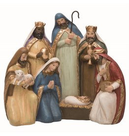 Faire: Transpac Resin Traditional Nativity Decor