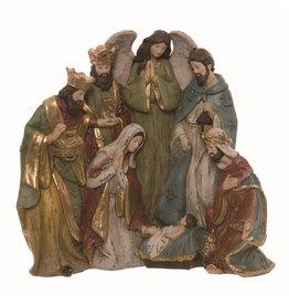 Faire: Transpac Resin Vintage Style Nativity Decor