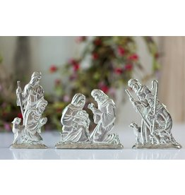Faire: House of Morgan Pewter Pewter Nativity Figurine Set 3 Pieces - Baby Jesus Gift