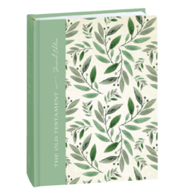 The Old Testament, Journal Edition, Green Floral (No Index) by Deseret Book Company