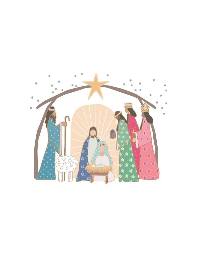 Hey Cute Design Prince of Peace Nativity Card Pack (20 cards) by Diane Robison