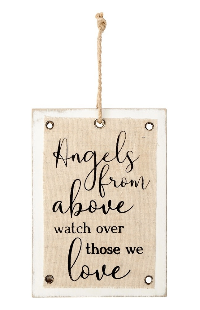 Richard Lang Angels From Above Hanging Sign
