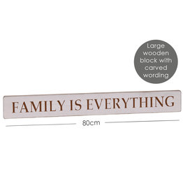 Richard Lang Family Is Everything Carved Wooden Sign