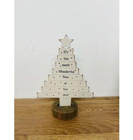Richard Lang Most Wonderful Time Christmas Tree Wooden