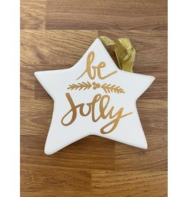 Richard Lang Gold Star Plaque - Be Jolly