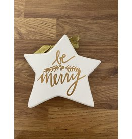 Richard Lang Gold Star Plaque - Be Merry