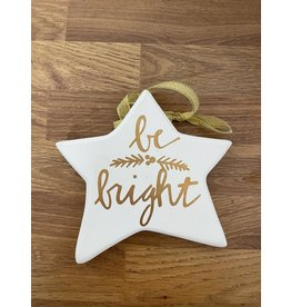 Richard Lang Gold Star Plaque - Be Bright