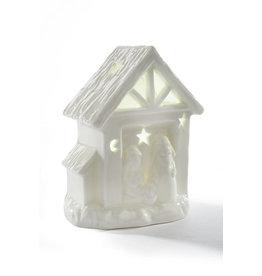 Richard Lang LED Ceramic Nativity
