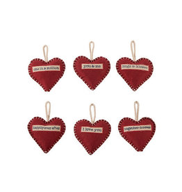 Richard Lang Felt Heart Hanger