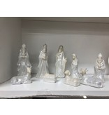 Accent Nativity White Glaze Porcelain (6.5 Inches)