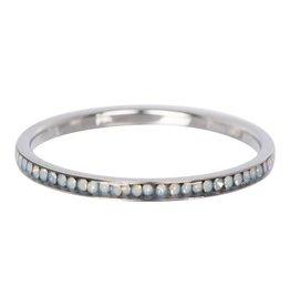 iXXXi Jewelry IXXXI Jewelry Vulring Zirconia White Opal Zilverkleurig 2 mm