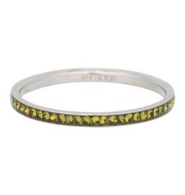 iXXXi Jewelry IXXXI Jewelry Vulring Zirconia Olivina Zilverkleurig 2 mm