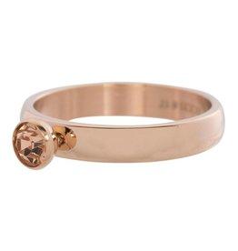 iXXXi Jewelry IXXXI Jewelry Vulring Zirconia 1 Stone Champagne Rose 4 mm
