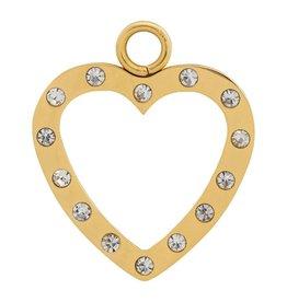 iXXXi Jewelry iXXXi Jewelry Charms Open heart with zirconia's