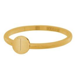 iXXXi Jewelry IXXXI vulring Alphabet 2 mm maat 17