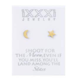 iXXXi Jewelry iXXXi Jewelry oorbellen 'shoot for the moon, even when you miss you'll end up among the stars'