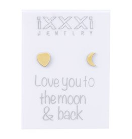 iXXXi Jewelry iXXXi Jewelry oorbellen 'love you to the moon and back'