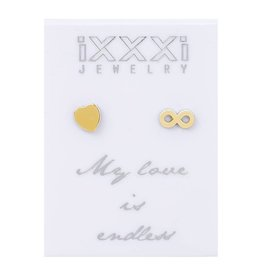 iXXXi Jewelry iXXXi Jewelry oorbellen 'my love is endless'