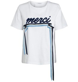 Pieces PC Maude SS Tee Bright White Navy