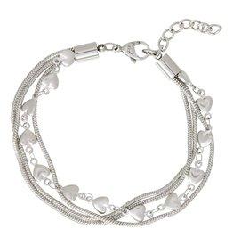 iXXXi Jewelry iXXXi Jewelry Bracelet Snake and 1 Heart Zilverkleurig