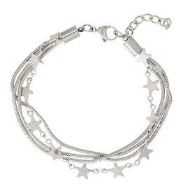 iXXXi Jewelry iXXXi jewelry Ankle Strap Snake and 1 Star Zilverkleurig