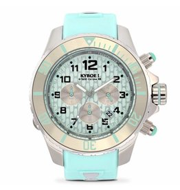 Kyboe! Horloges Kyboe CHRONO SILVER MINT KYC-004