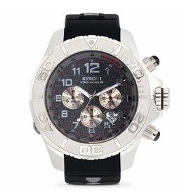 Kyboe! Horloges Kyboe CHRONO SILVER DARKNESS KYM-002