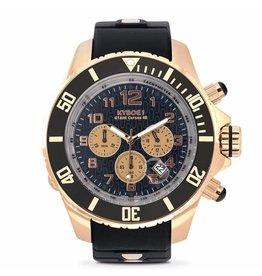 Kyboe! Horloges Kyboe CHRONO ROSE BLACK KYCRG-001