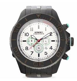Kyboe! Horloges Kyboe METAL CHRONO STEEL BLACK DUO SBC-006