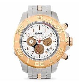 Kyboe! Horloges Kyboe METAL CHRONO STEEL BICOLOR SBC-009