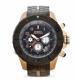 Kyboe! Horloges Kyboe METAL CHRONO STEEL BLACK ROSE SBC-011