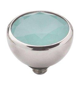Melano Melano twisted cz steentje turquoise