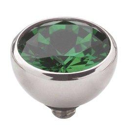 Melano Melano twisted cz steentje emerald