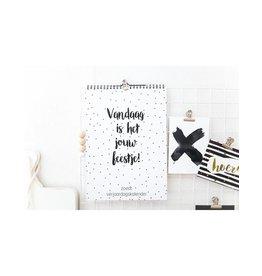 Zoedt Zoedt Verjaardagskalender Wit