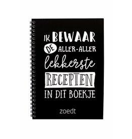 Zoedt Zoedt Recepten Invulboek