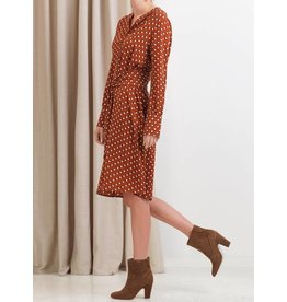 Saint Tropez Saint Tropez T6130 Dress With Dots And Tie Beld