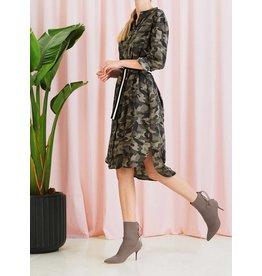 Saint Tropez Saint Tropez T6112 Camouflage Printed Dress