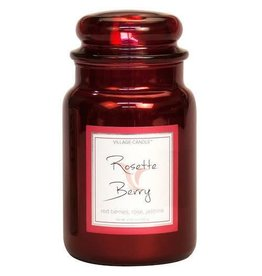 Village Candle Rosette Berry Metallic Village Candle Geurkaars Large