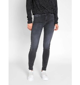 Pieces PC Delly DLX MW Ank Glitter Jeans Dark Grey Denim