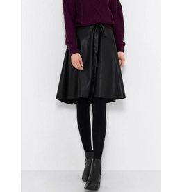 Saint Tropez Saint Tropez T8020 Faux Leather Skirt With Belt