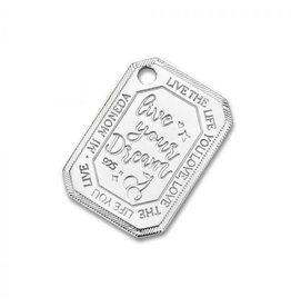 Mi Moneda Monogram MMM Cherry Rectangle Tag 20mm 925 Zilver