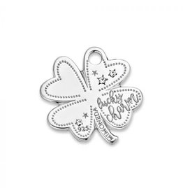 Mi Moneda Monogram MMM Lucky Clover Tag 20mm 925 Zilver