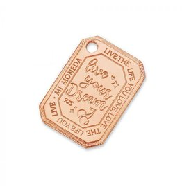 Mi Moneda Monogram MMM Cherry Rectangle Tag 20mm 925 Rosé