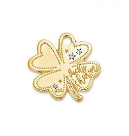 Mi Moneda Monogram MMM Lucky Clover Tag 20mm Goudkleurig